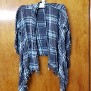 Justice Girls Crop Top Flannel
